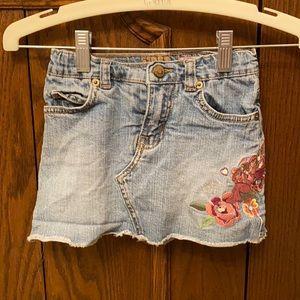 Embroidered denim skort girls size 5
